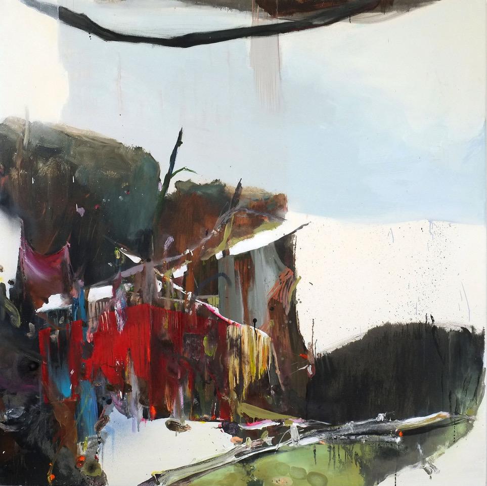 Stephanie Abben | Hinter-Mimizan-2010-19-Acryl-und-Öl-auf-Leinwand-180x180-cm