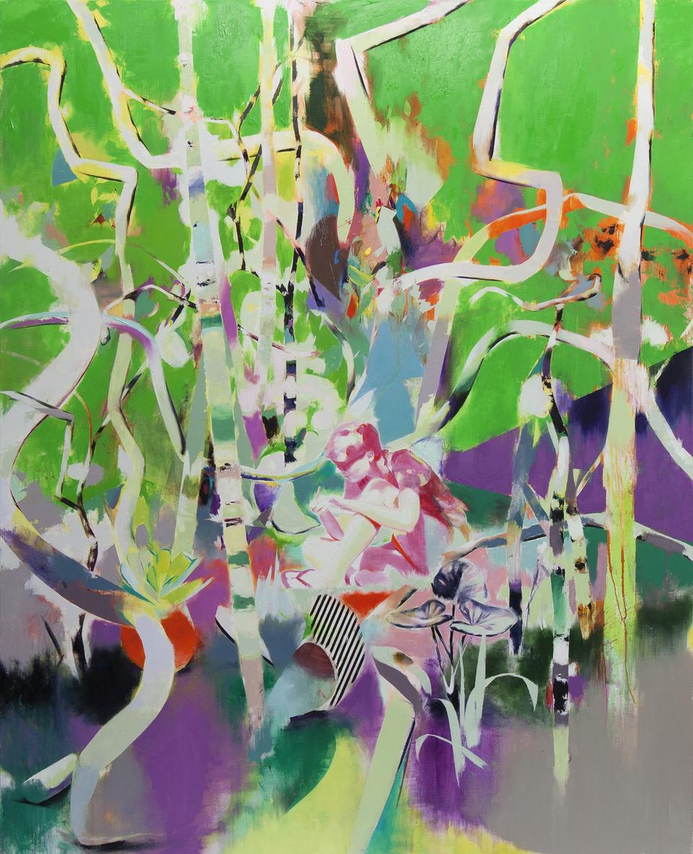 Tomomi Morishima | Ohne Titel, 2020, Öl auf Leinwand, 240 x 194 cm